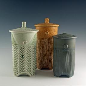 Tea Caddies by Dyann Myers