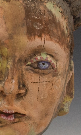Love Eyes. Ceramic sculpture by Trish Salmon