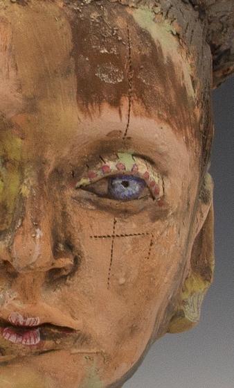 Love Eyes. Ceramic sculpture by Trish Salmon