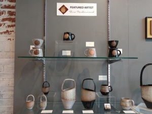 Tara Underwood Pottery display